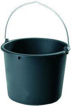 Baueimer Polyethylen- Regeneratg. schwarz 10 l Bild 1