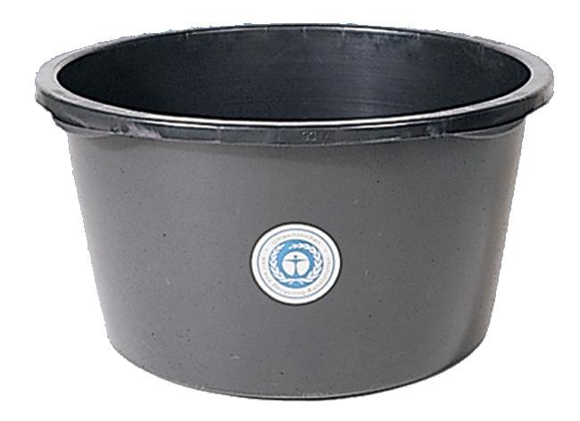 Mörtelkübel 65 L 620x350 mm rund schwarz Bild 1