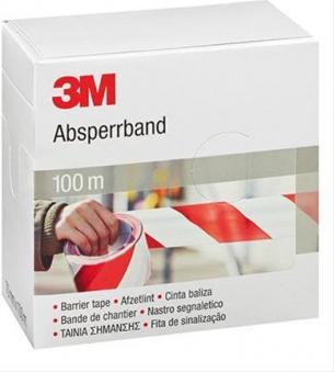 Absperrband 70mm x 100m rot-weiß 3M Bild 1