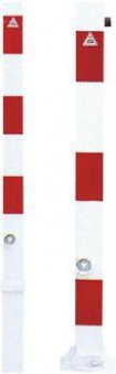 Absperrpfosten herausneh verz. rot/w 70x70mmSchake Bild 1