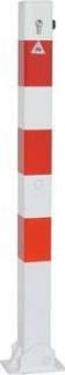Absperrpfosten umlegbar verz. r/w 70x70mm, PZ Bild 1