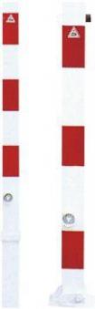 Absperrpfosten umlegbar verz. rot/w 70x70mmSchake Bild 1