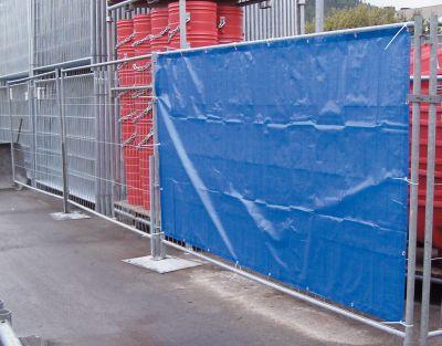 Bauzaunplane, blau 1,76 x 3,41 Bild 1