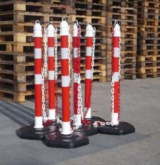 Kettenpfosten-Set 6 Pfosten + 5x3m Kette STRECKE Bild 1