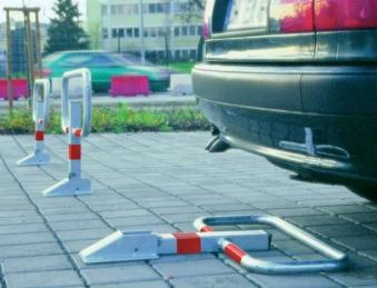Parkbügel zum Aufdübeln feuerverzinkt STRECKE Bild 1