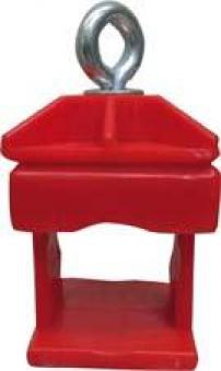 Schilderklemme rot Kunststoff Typ 31313 Bild 1
