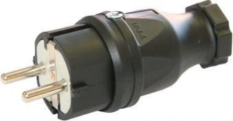 Schutzkontaktstecker,2p+EIP 44 Gummi Bild 1
