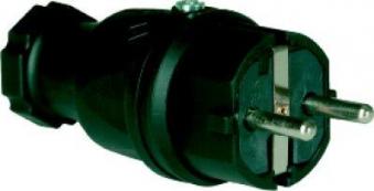Schutzkontaktstecker, 2p+IP44 Vollgummi 16A/230V Bild 1