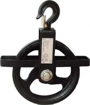 Seilrad 190 mm, 200 kg für Seile von 18 - 22 mm Bild 1