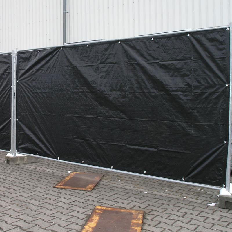 Sichtschutzplane / Bauzaunplane Profi Noor 176x34cm 140g/m² schwarz Bild 3