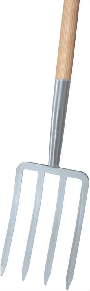 Spatengabel silber 4 Zinken, T-Stiel Import Bild 1