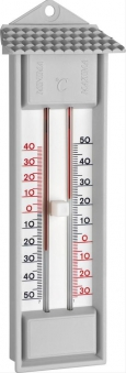 Thermometer Maxima-MinimaKunststoff, grau Bild 1