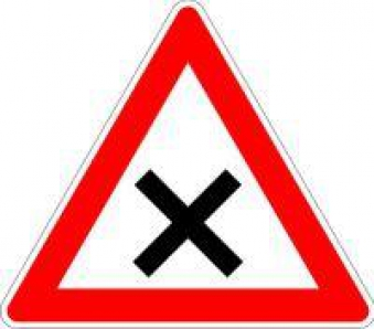 VKZ.102 Dreieck 900mm Kreuzung Vorfahrt rechts Bild 1