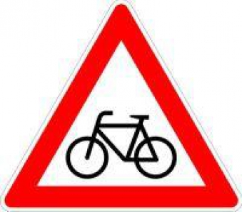 VKZ.138-10 Dreieck 900mm Radfahrer kreuzen(rechts) Bild 1