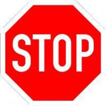 VKZ.206 Achteck 900mm Stoppschild Bild 1