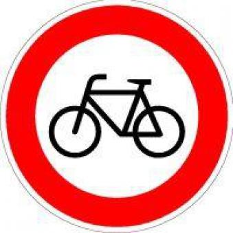 VKZ.254 Ronden 600mm Verbot für Radfahrer Bild 1