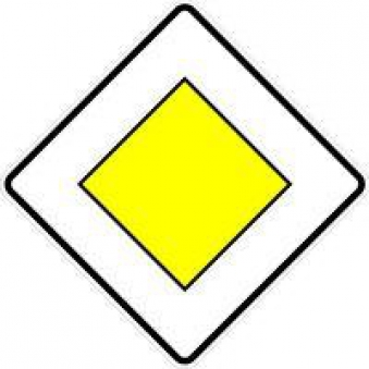 VKZ.306, 600x600mm Vorfahrtstraße Bild 1