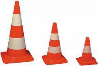 Verkehrsleitkegel PVC orange, 500 mm Bild 1