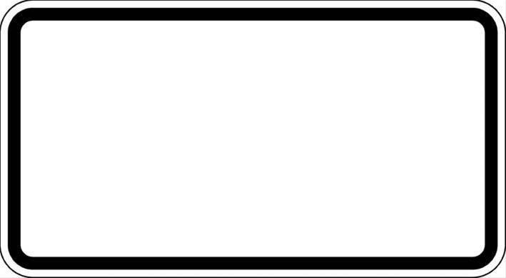 ZZ.blanko, 330x600mm Grund weiß - Rand schwarz Bild 1
