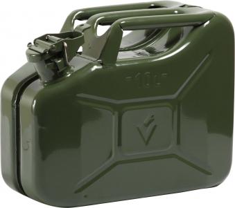 Benzinkanister Stahlbl. 10l GS+UN-gepr. Oliv Bild 1