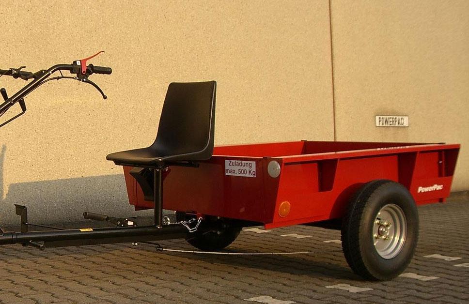 Powerpac Anhänger für Einachser Basismodul KAM5 Nutzlast 500kg Bild 1