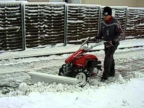 Powerpac Schneeschild als Schneeschieber Einachser MAK17 100cm Video Screenshot 27