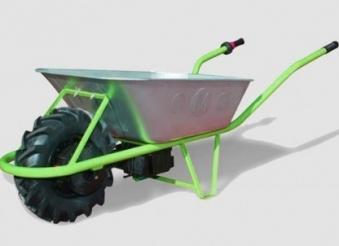 Elektro Schubkarre MOTOkarre Standard 250W 100L verzinkt mit Bremse Bild 3