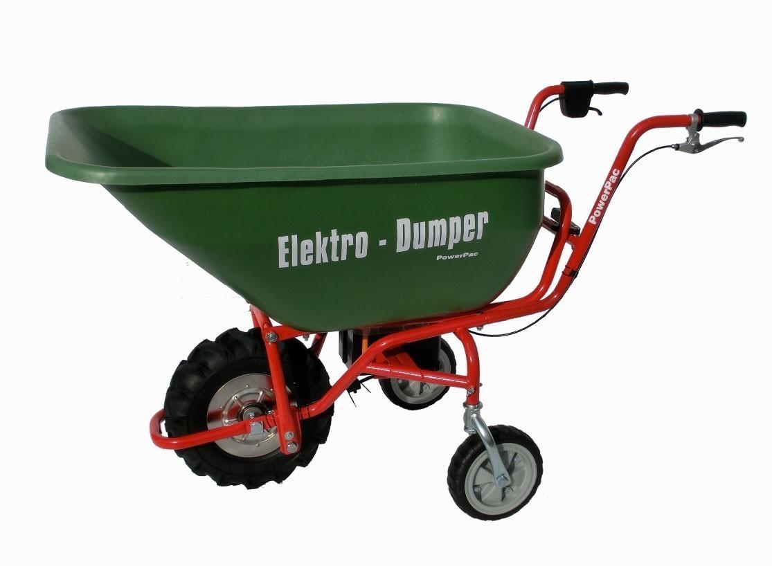 Powerpac Elektro-Dumper / Elektroschubkarre ED120 mit 180L Mulde Bild 1