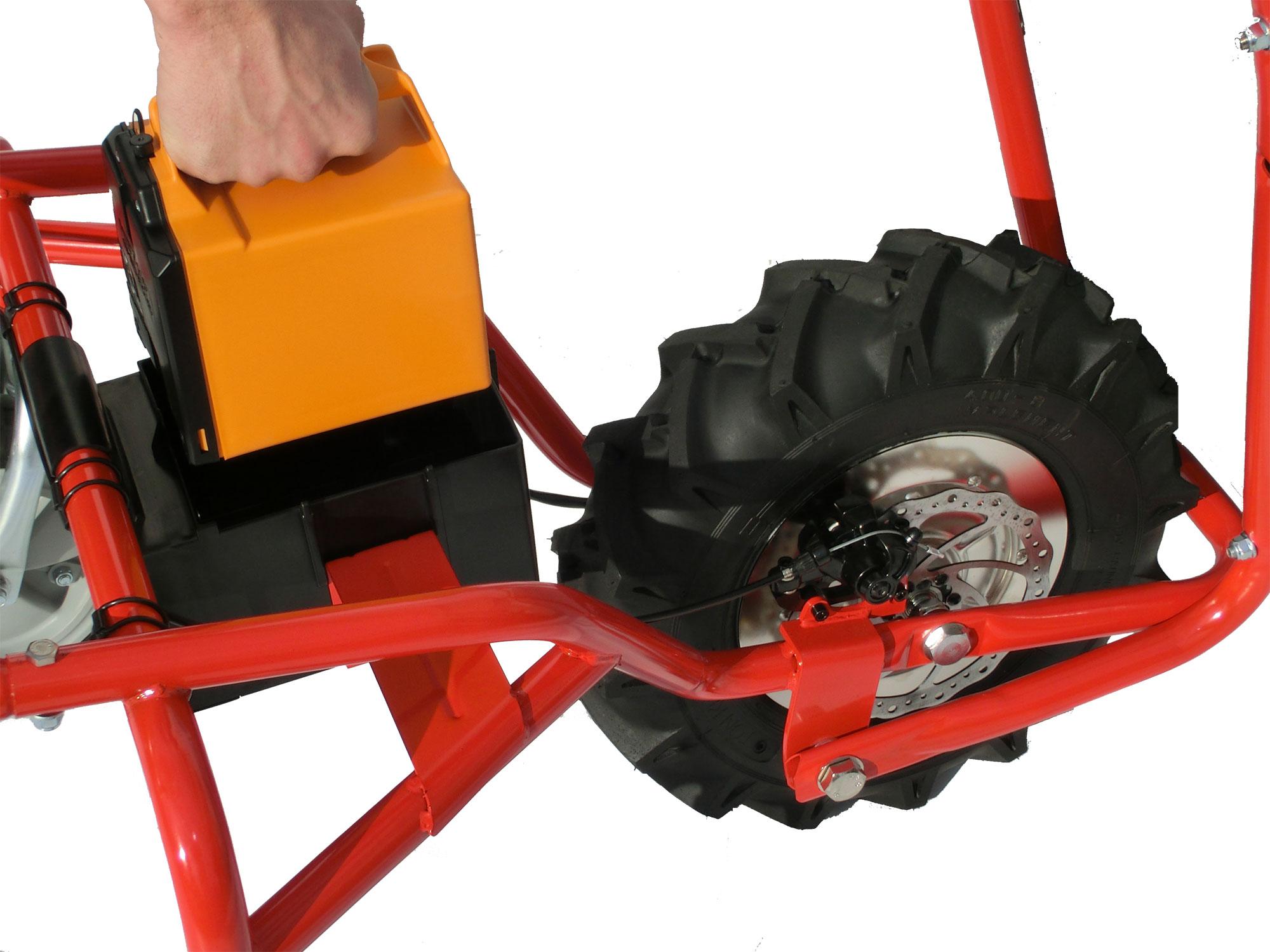 Powerpac Elektro-Dumper / Elektroschubkarre ED120 mit 180L Mulde Bild 3