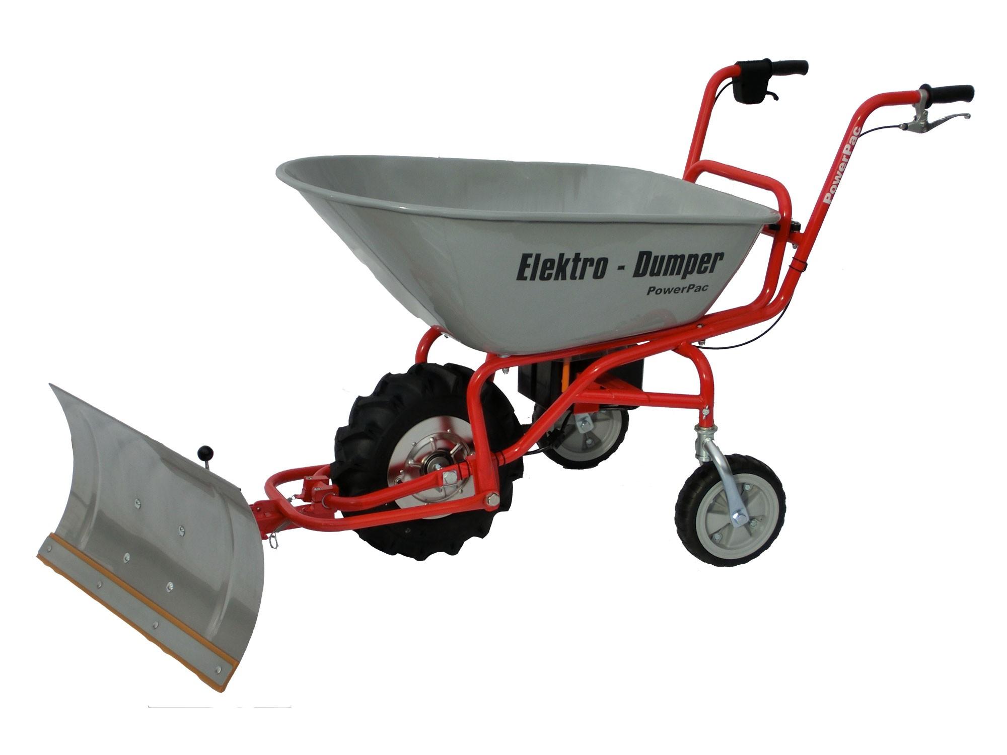 Powerpac Elektro-Dumper / Elektroschubkarre ED120 mit Schneeschild Bild 1