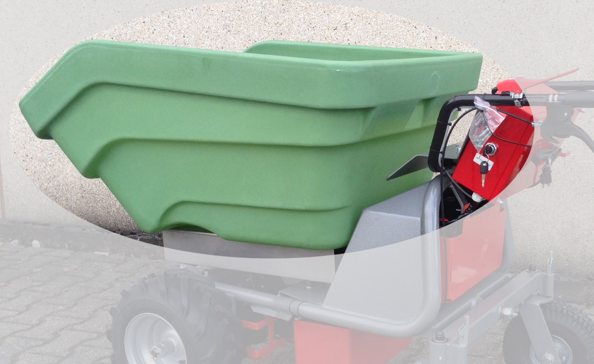 Powerpac Schüttmulde Kunstoff 350 L für Multi-Dumper MCE400 Bild 1