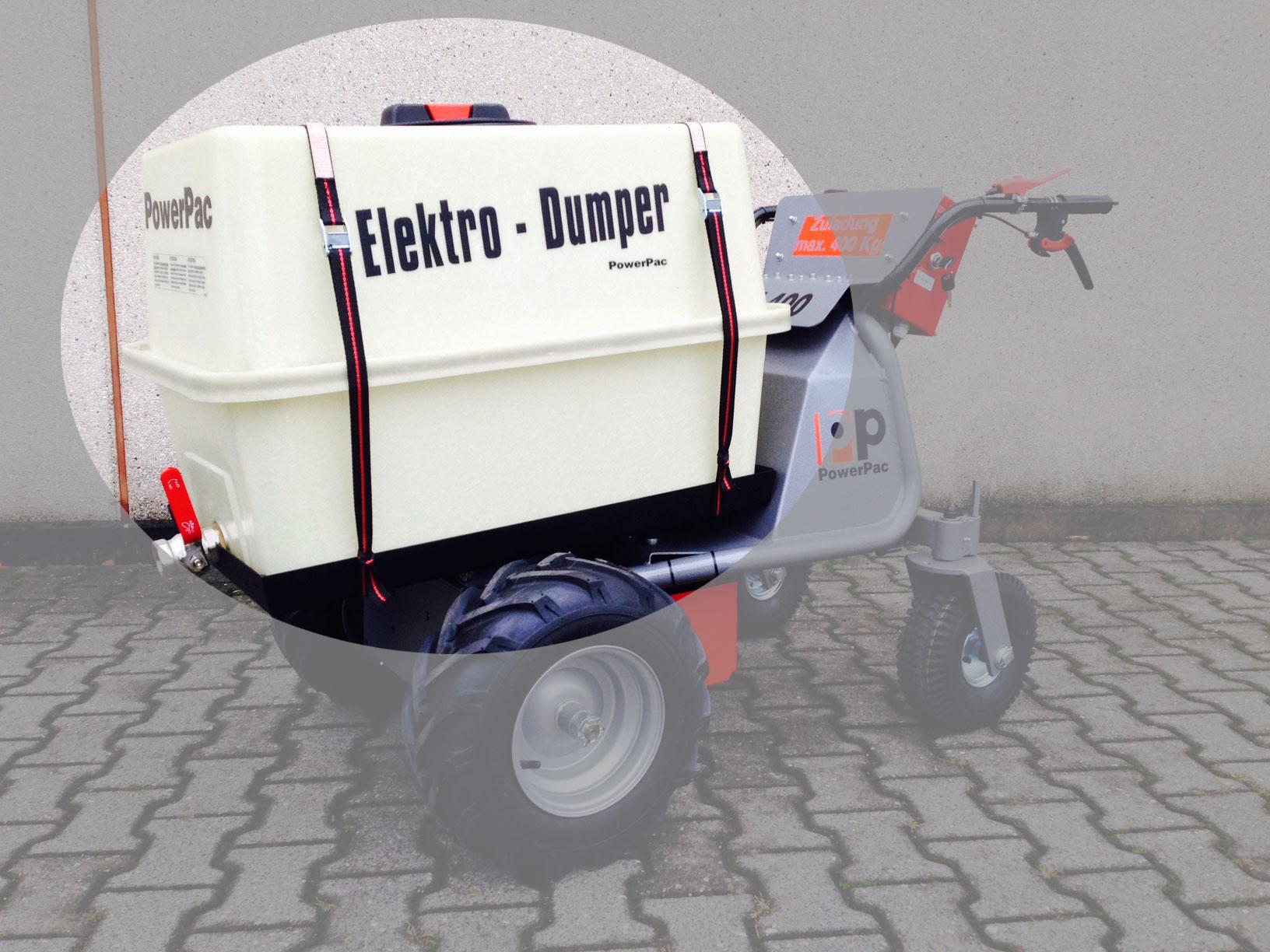 Powerpac Wassertank für Elektro Multi-Caddy MCE400 Bild 1