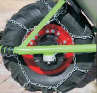 Schneekette / Radkette für Reifen 16cm-Felge für MOTOkarre Bild 1