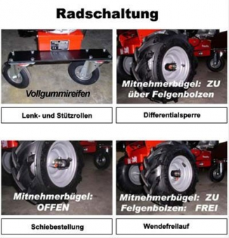 Powerpac Motorschubkarre / Mini-Caddy / Mini-Dumper MCM100 110 Liter Bild 2