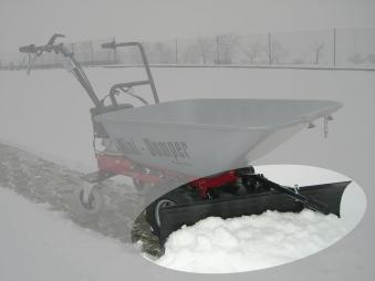 Powerpac Schneeschild 85cm mit Gummileiste für Mini-Caddy MCM100