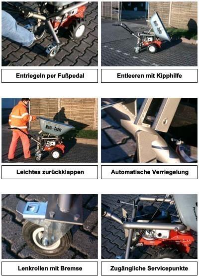Powerpac Motorschubkarre / Mini-Caddy / Multi-Dumper MC140 110 Liter Bild 3