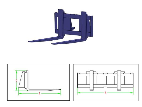PowerPac Palettengabel Zubehör für Multi-Lader ML350 Bild 1