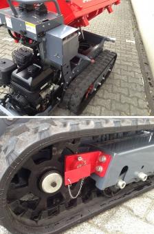 Powerpac Raupen-Dumper / Dreiseitenkipper RC1000-DS Benzin Bild 3