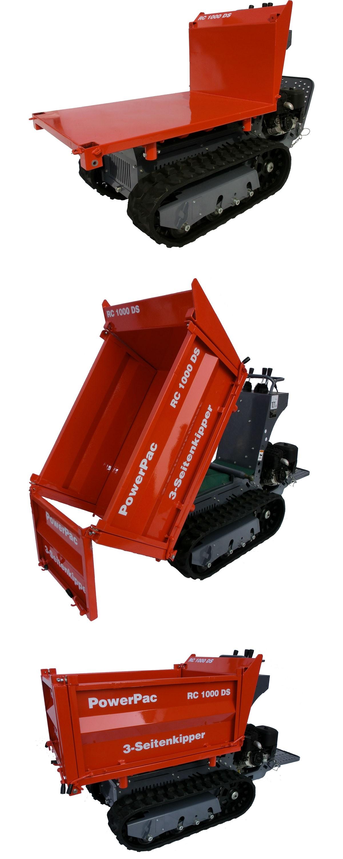 Powerpac Raupen-Dumper / Dreiseitenkipper RC1000-DS-D Diesel Bild 4