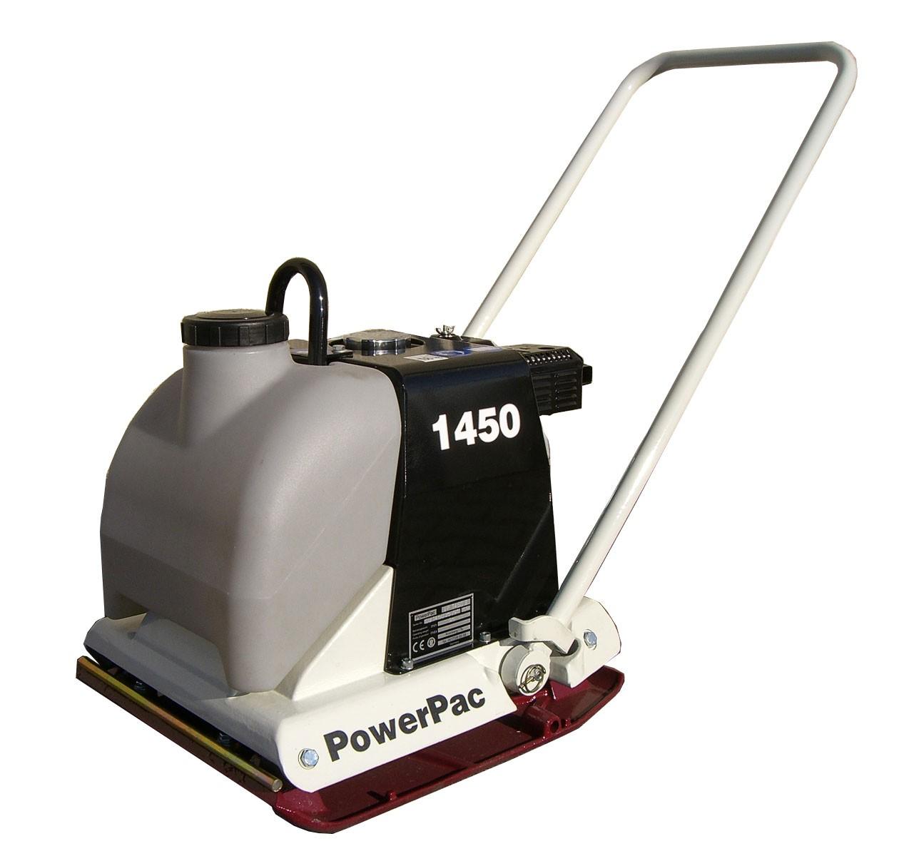 Powerpac Rüttelplatte Vorlauf VP1450BW/500 Benzin mit Wassertank Bild 1