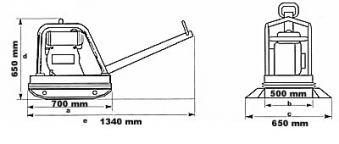 Powerpac Rüttelplatte reversierbar PPR3000B/500 Benzin Bild 2