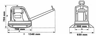 Powerpac Rüttelplatte reversierbar PPR3000D/500 Diesel Bild 2
