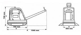 Powerpac Rüttelplatte reversierbar PPR3800D/500 Diesel Bild 2