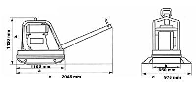 Powerpac Rüttelplatte reversierbar PPR8800D/650 Diesel Bild 2