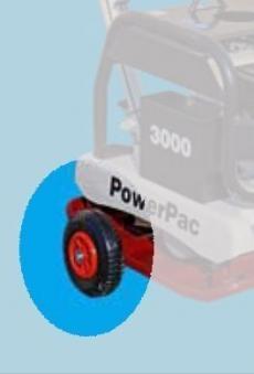 Powerpac Radsatz für Vibrationsplatten PPR3000 und PPR3800 Bild 1