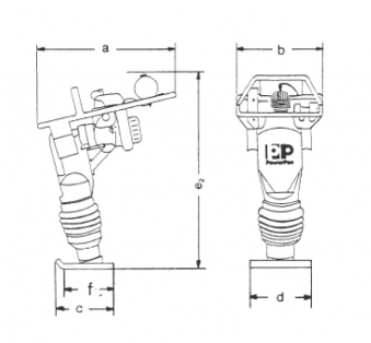 Powerpac Vibrationsstampfer PPS68H Benzin Bild 2