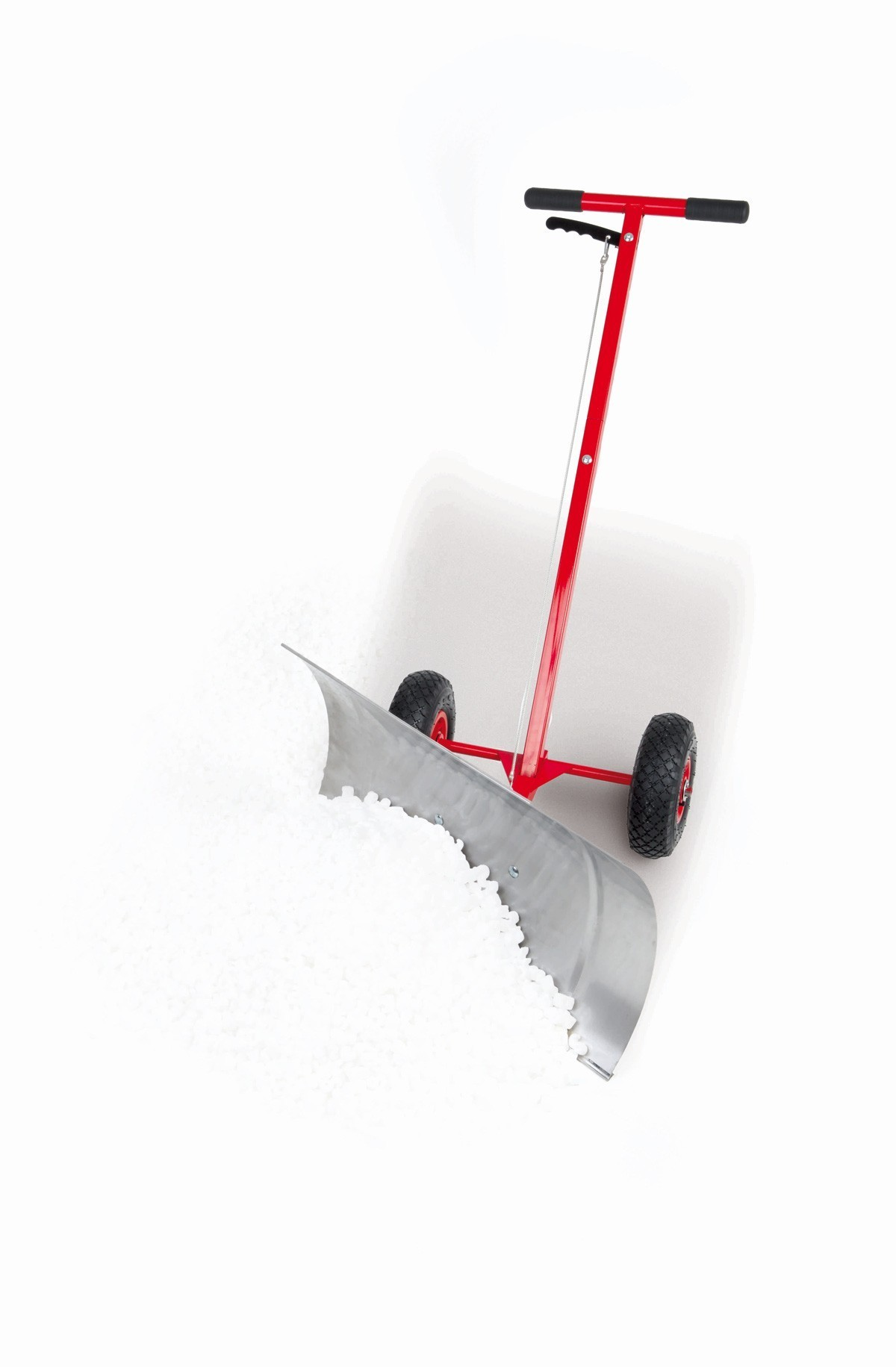Powerpac Schneeschieber / Schneeräumer mit Reifen 74cm Bild 2
