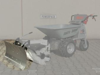 Powerpac Schneeschieber / Schneeschild Edelstahl für Kehrbesen MCE400 Bild 1