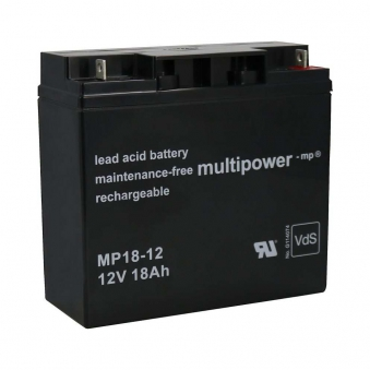 Batterie MP 18-12/ 12V 18 AH für Güde Stromerzuger GSE 5500 / GSE 6701
