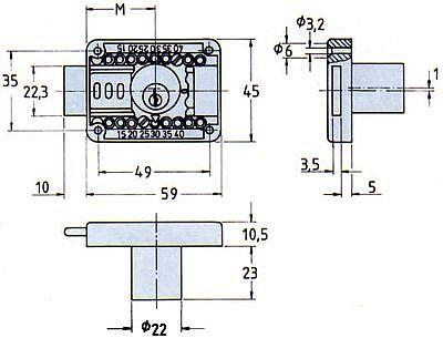 Riegelschlösser 2828 Mess.pol.verschiedenschl.Dorn 15-40mm Bild 2